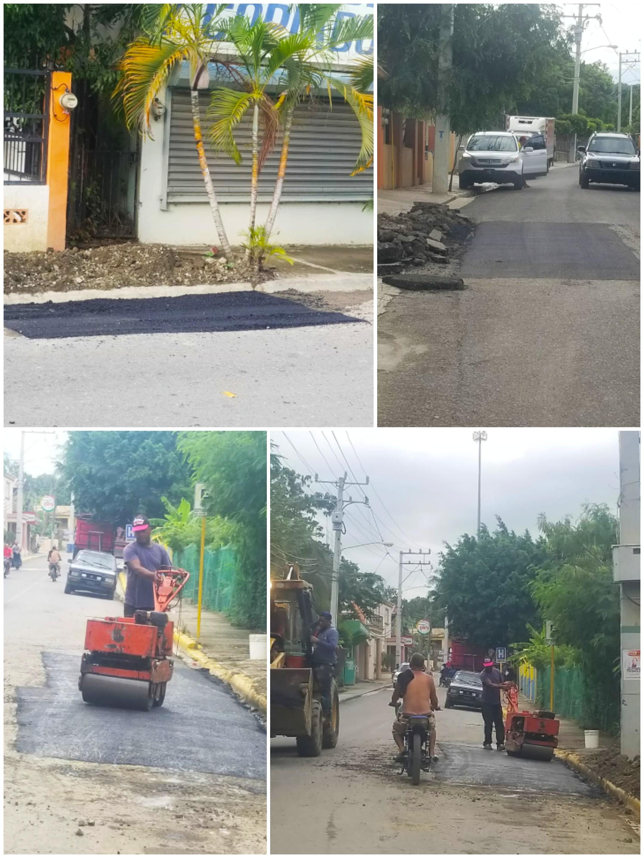 La Alcaldía lleva a cabo la reparación de algunas calles en deterioro en la parte Centro y sector Palo Amarillo.