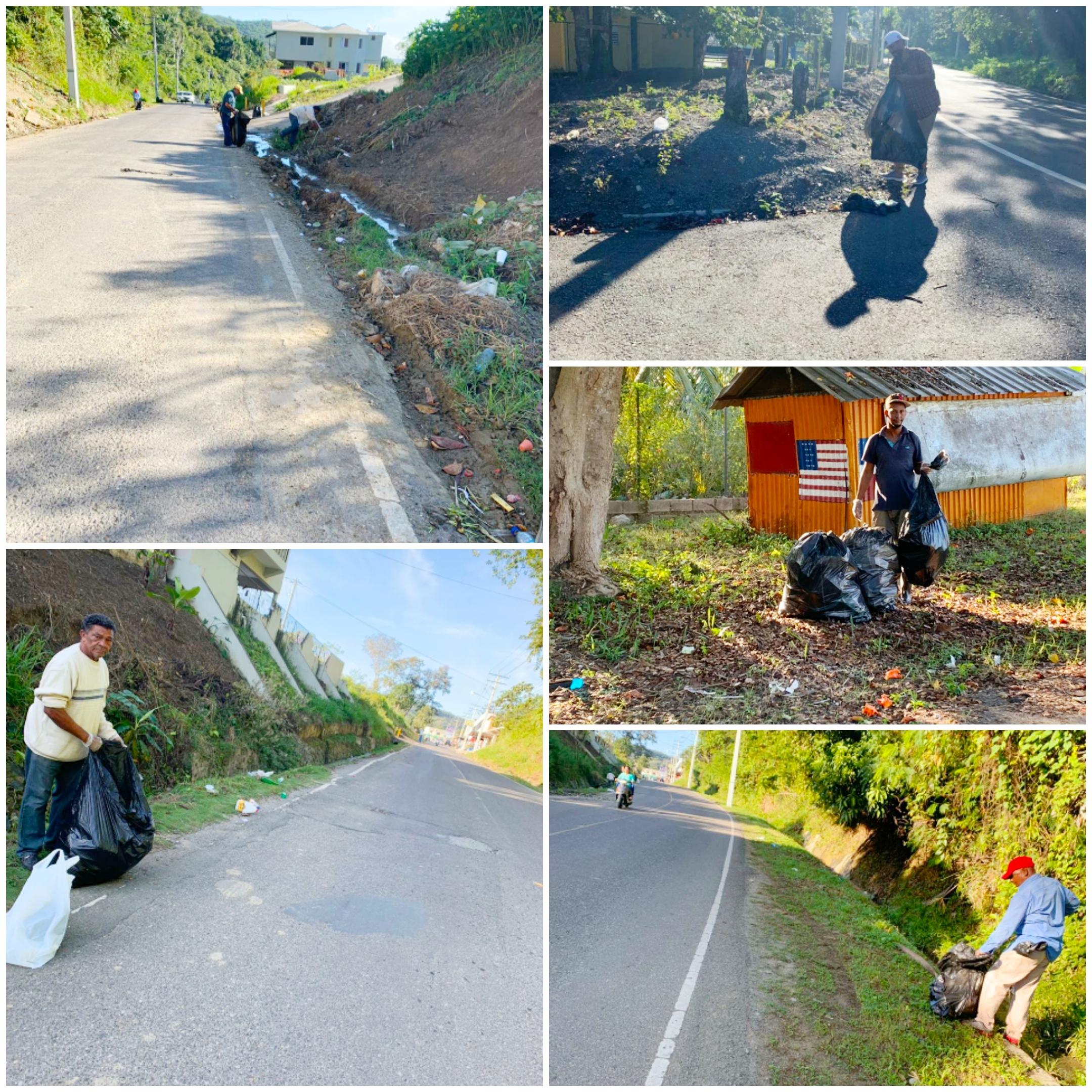 La Alcaldía realiza operativo de recogida de desechos sólidos en las principales vías del municipio.