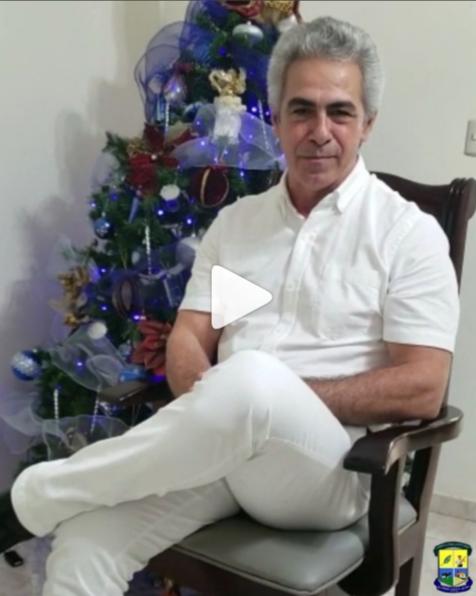 Estos son los buenos deseos de nuestros señor alcalde Tony Vargas para todos los munícipes. ¡Feliz Navidad y Prospero Año Nuevo!